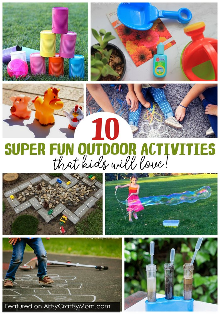 These 10 Super Fun Outdoor Activities that Kids will Love are easy to put together & are perfect at keeping little ones away from gadgets and screens!