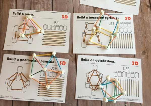 picture relating to Building With Toothpicks and Marshmallows Printable titled 10 Fascinating Math Crafts and Functions for World wide Maths Working day