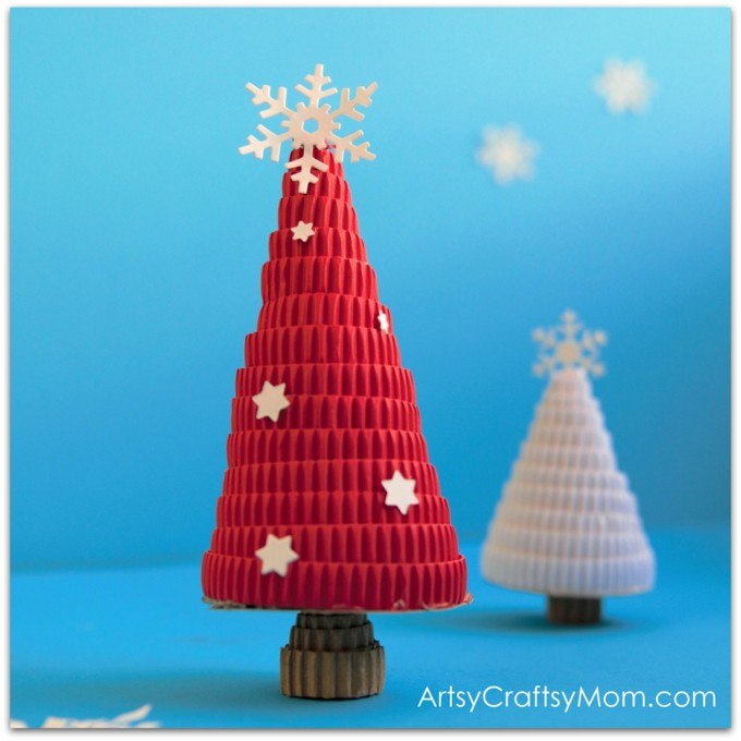 Try something different this holiday season with a DIY Corrugated Paper Christmas Tree! Skip the green and go for red, white or gold colors instead!