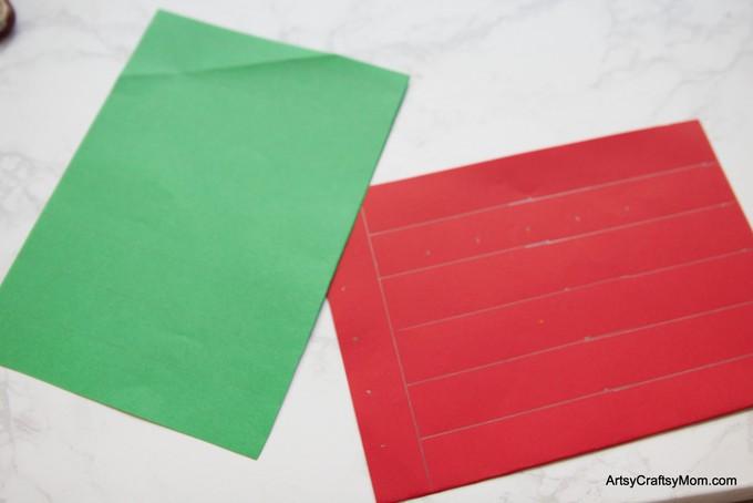 Diy Christmas Paper Basket Craft For Kids