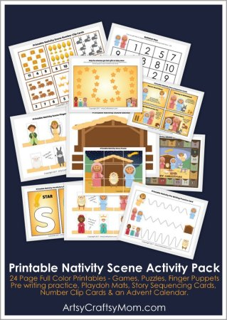 Printable Nativity Themed Activity Pack