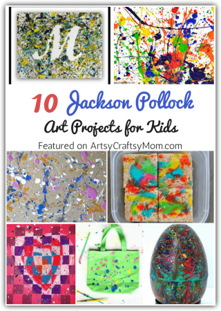Introduce kids to the father of action painting - Jackson Pollock - with some fun and easy Jackson Pollock art projects for kids. Be prepared for some mess - and some beautiful art!
