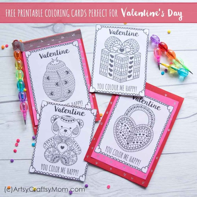 Free Printable Coloring Cards For Valentine S Day
