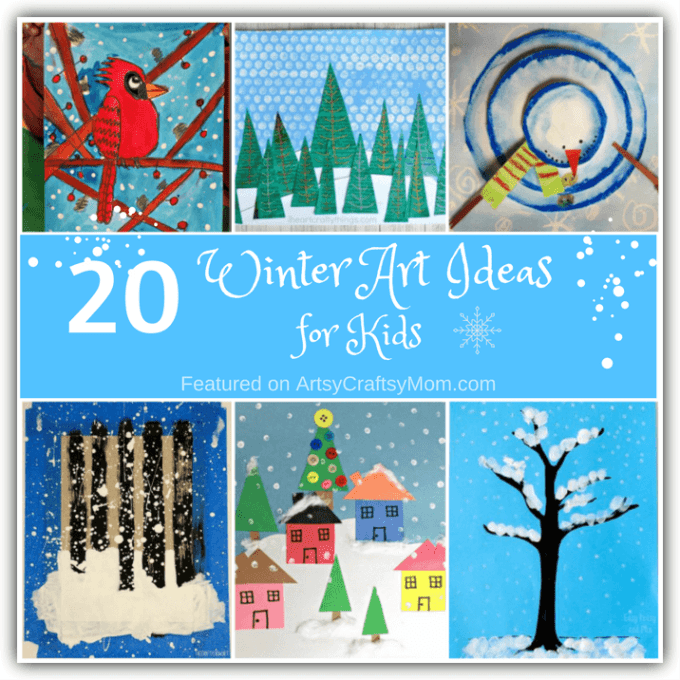 Capture the beauty of the season with these 20 Winter Art Ideas for Kids that are truly frame-worthy! From penguins to snowmen to landscapes - everything can be turned into art!