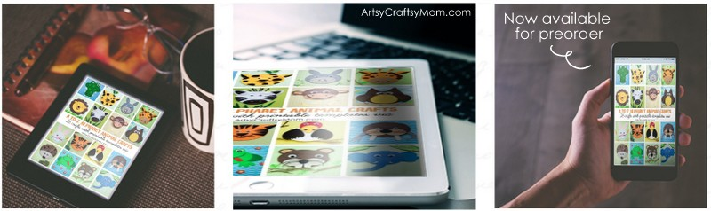 A to Z Alphabet Animal Craft Ebook + Printable Templates. 26 Animal crafts + 4 bonus printable crafts to learn abour Animals and habitat.