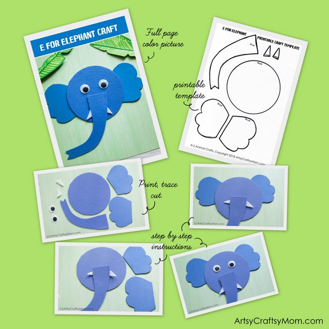 A To Z Alphabet Animal Craft Ebook Printable Templates