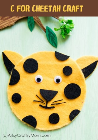 C for Cheetah Craft with Printable Template – Animal Crafts