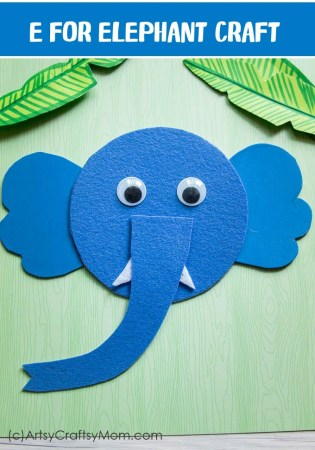 E for Elephant Craft with Printable Template