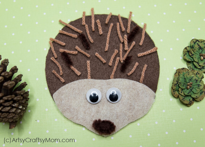 This H for Hedgehog Craft is perfect for Letter of the week curriculum, studying the letter H, learning about forests and forest animals, hibernation or for a fall/autumn activity.
