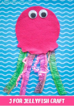 J for Jellyfish Craft with Printable Template
