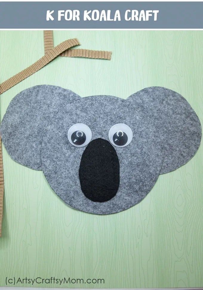 K For Koala Craft With Printable Template Artsy Craftsy Mom