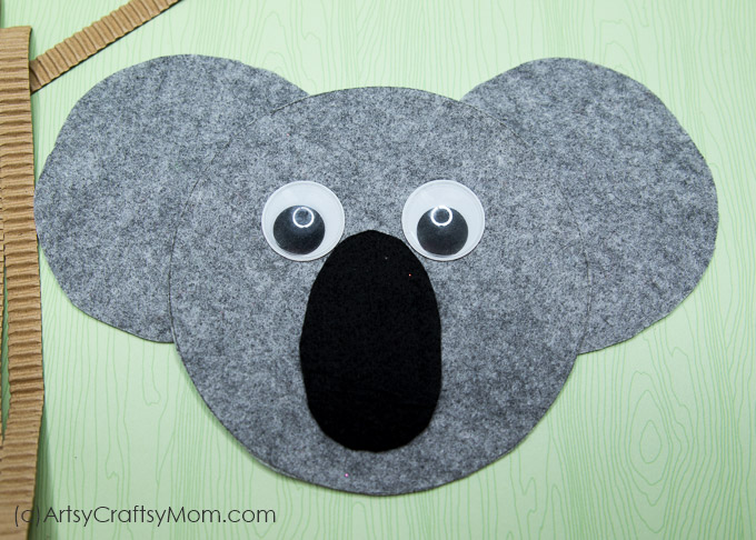 k for koala craft with printable template