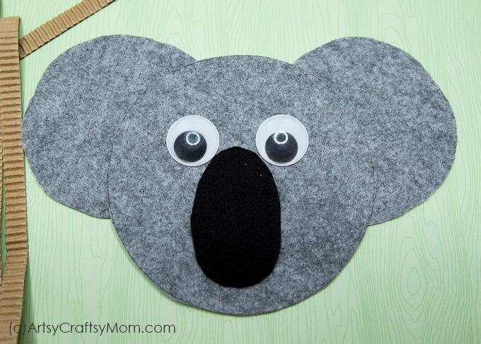 K For Koala Craft With Printable Template Artsy Craftsy Mom