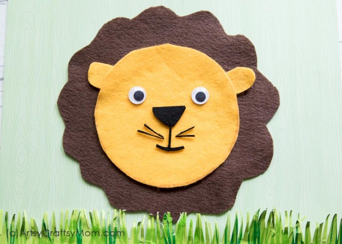 Make this adorable L for Lion Craft using our Printable Template that's perfect for learning about the zoo, the jungle, forest animals, carnivores, big Cats or the Letter L