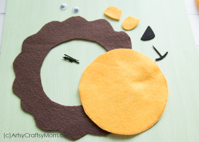 We Used A 2mm Stiff Felt To Make This Craft Alternately You Could Use Construction Paper Or Foam In Similar Colors