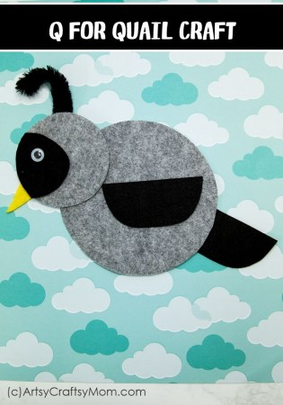 Make this adorable Q for Quail Craft using our Printable Template that's perfect for learning about birds, desert animals, letter Q, or animal habitats.