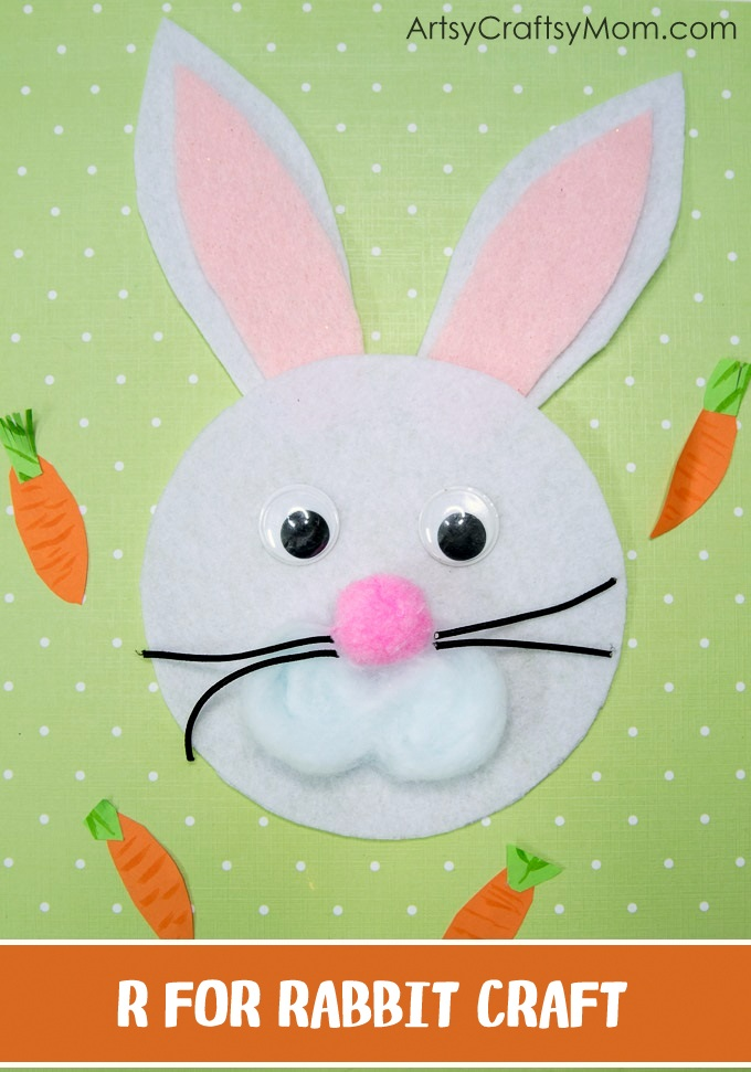 R for rabbit craft with printable template artsy craftsy mom make this adorable r for rabbit craft using our printable template thats perfect for learning about spiritdancerdesigns Images