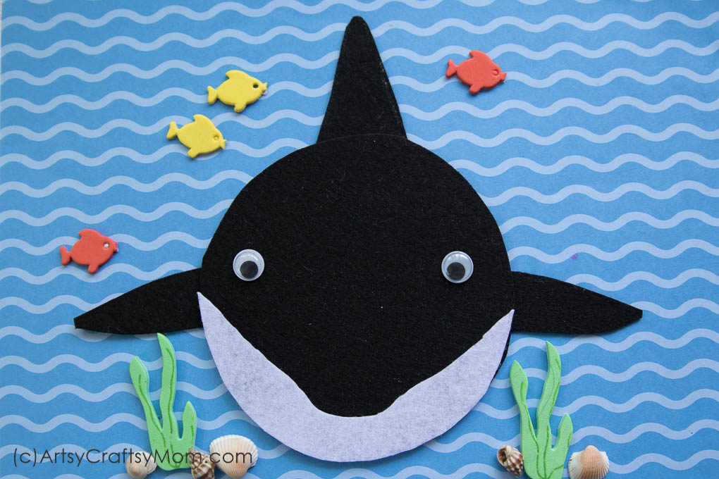 S For Shark Craft With A Printable Template Artsy Craftsy Mom