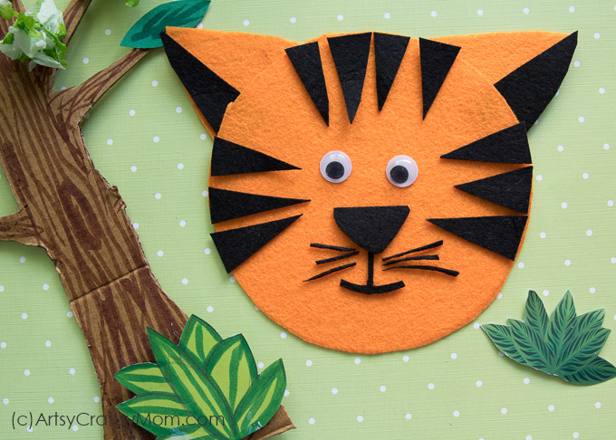 T for Tiger Craft with Printable Template - Artsy Craftsy Mom