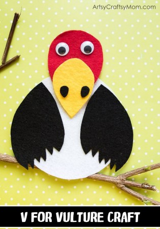 Make this adorable V for Vulture Craft using our Printable Template that's perfect for learning about scavengers, carnivore birds, endangered birds or the Letter V
