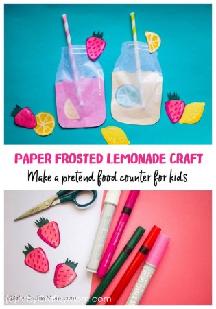 Pretend Play Food – Frosted Lemonade Paper Craft