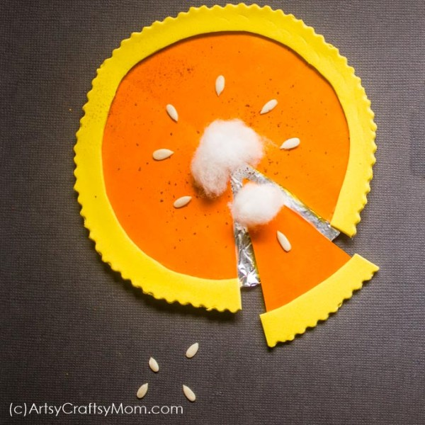 Take pretend play food to the next level with a fun Paper Pie Craft for kids! Make pumpkin and blueberry pies out of simple paper collages!