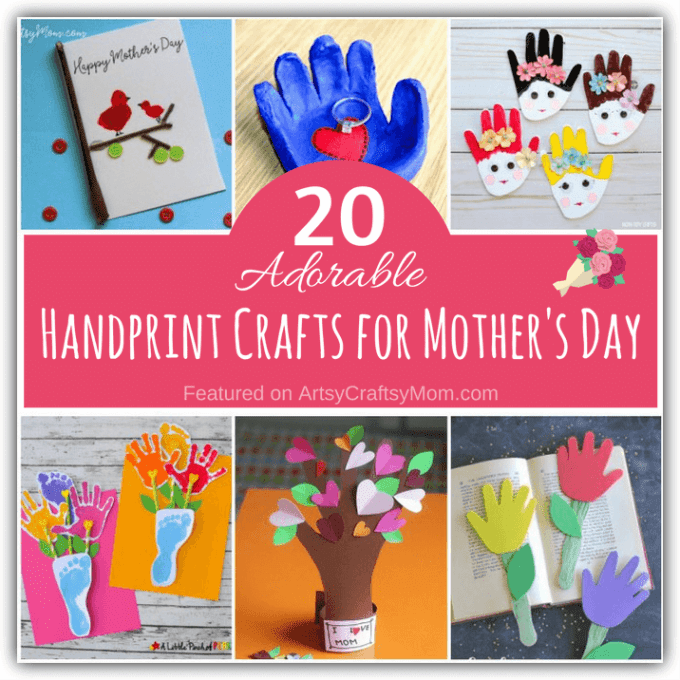 These Adorable Handprint Crafts for Mother's Day are perfect for any Mom who loves gifts made by her little one's handprints - after all, they grow so fast!