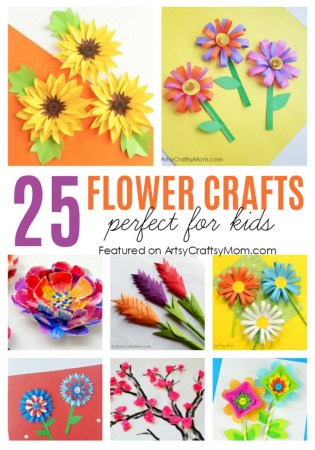 25 Gorgeous Paper Flower Crafts for Kids that are perfect for Summer- from tissue paper cherry blossoms, lilies, sunflowers to heliconias too!