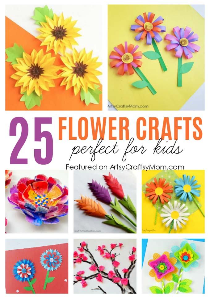 25 gorgeous paper flower crafts for kids that are perfect