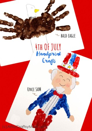 4th of July Handprint Crafts – Uncle Sam and Bald Eagle