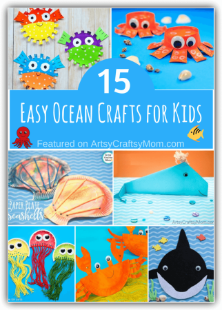 This World Oceans Day, let's learn about the creatures that live there with some cute ocean crafts for kids! Packed with fun little facts on different ocean creatures!