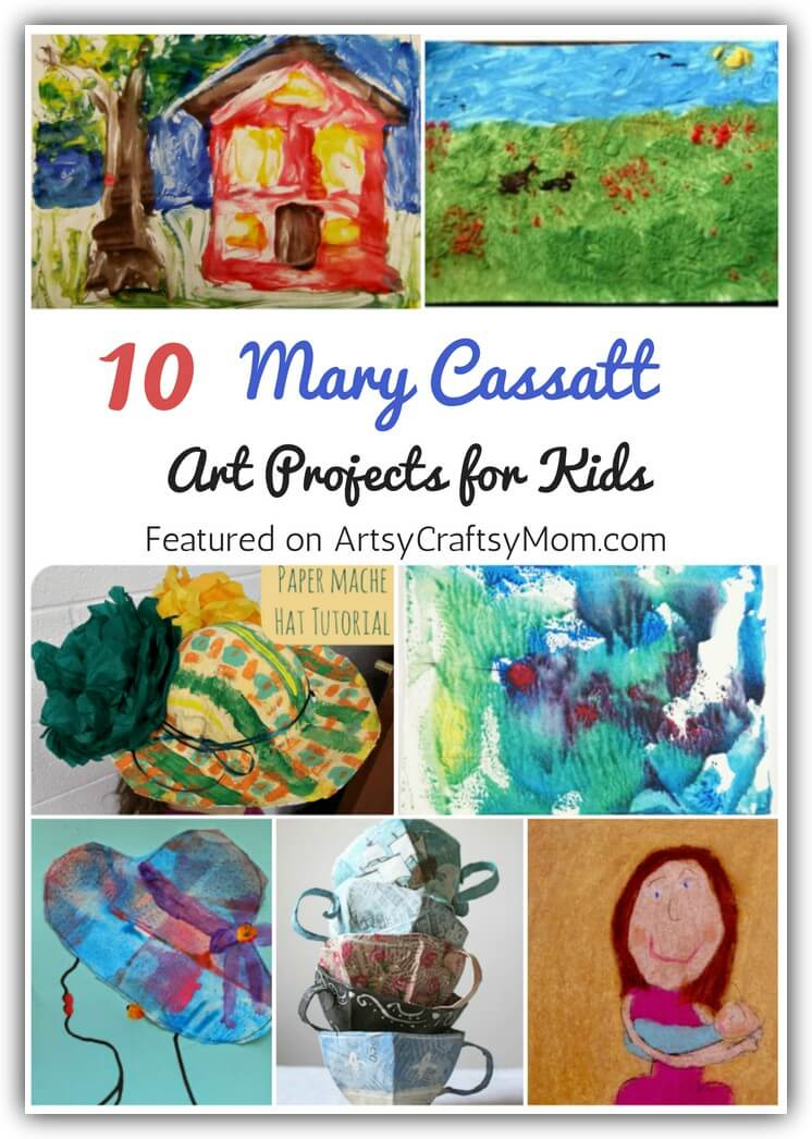 Mary Cassatt's work focused on mothers and children, which is why kids will love learning about her with these simple Mary Cassatt Art Projects for Kids.