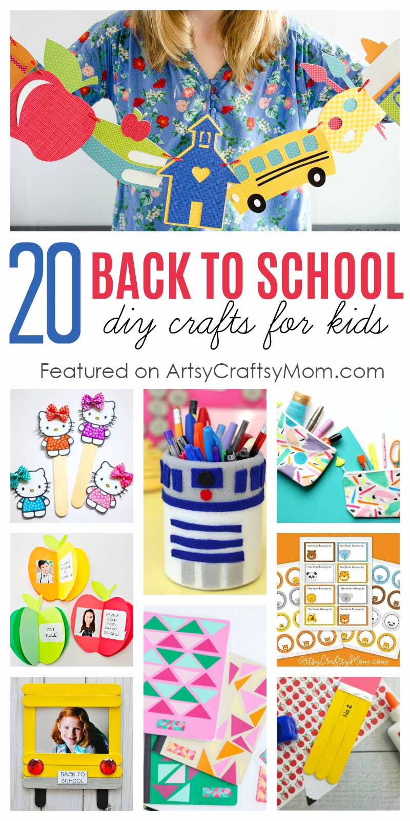 Celebrate the excitement of a new school year with new books, stationery, and our awesome Back to School Crafts to make for themselves or their friends! #backtoschool #diy #stationarycrafts