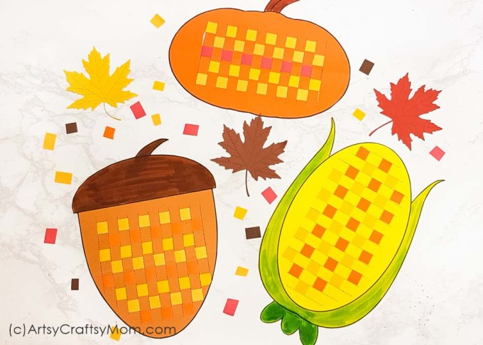 These Paper Weaving Fall Printables are perfect to strengthen and keep those little fingers busy this season!! Also helps to improve concentration and hand-eye coordination in little kids.