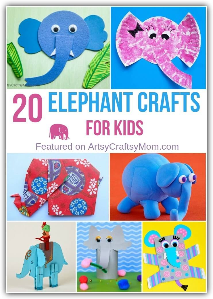 These incredibly cute elephant crafts for kids are perfect for all kinds of occasions. They range from the super simple to the challenging, so there's something for everyone!