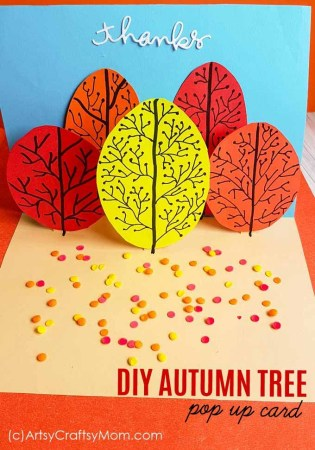 Super Simple DIY Autumn Tree Pop Up card