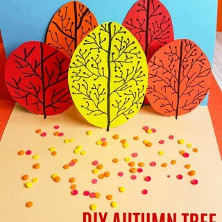 Bring alive the colors of fall in this super simple DIY Autumn Tree Pop Up Card that even young kids can make, with a little help from Mom and Dad!
