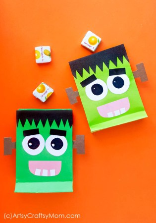 DIY Frankenstein Treat Bag for Halloween