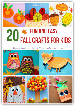 Celebrate the season of pumpkins, falling leaves and pie with some fun and easy fall crafts for kids! Includes owls, foxes, hedgehogs, apples and more!!