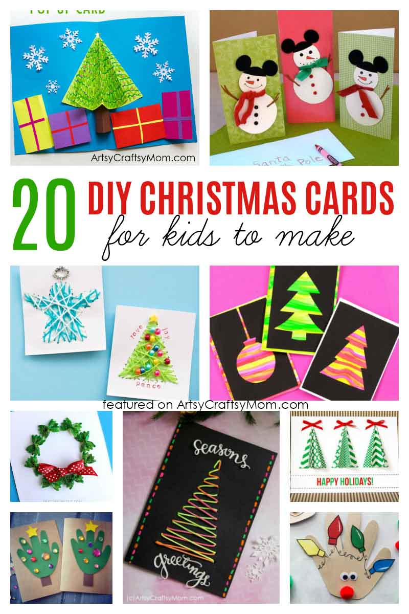20 Simple And Sweet Diy Christmas Card Ideas For Kids