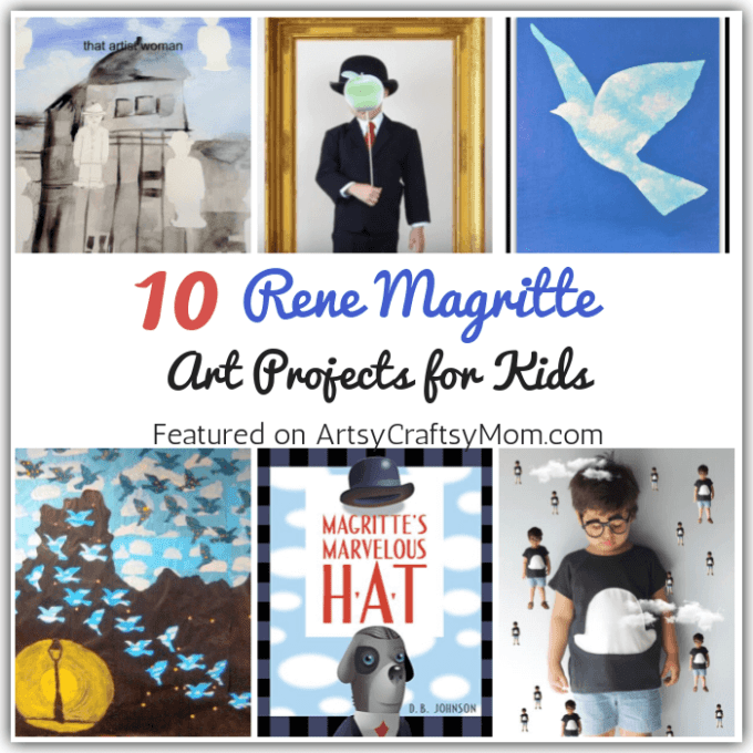 Magritte was an artist who painted regular people and objects - in a completely irregular style! Learn more about this cheeky artist with these 10 Rene Magritte Art Projects for Kids.