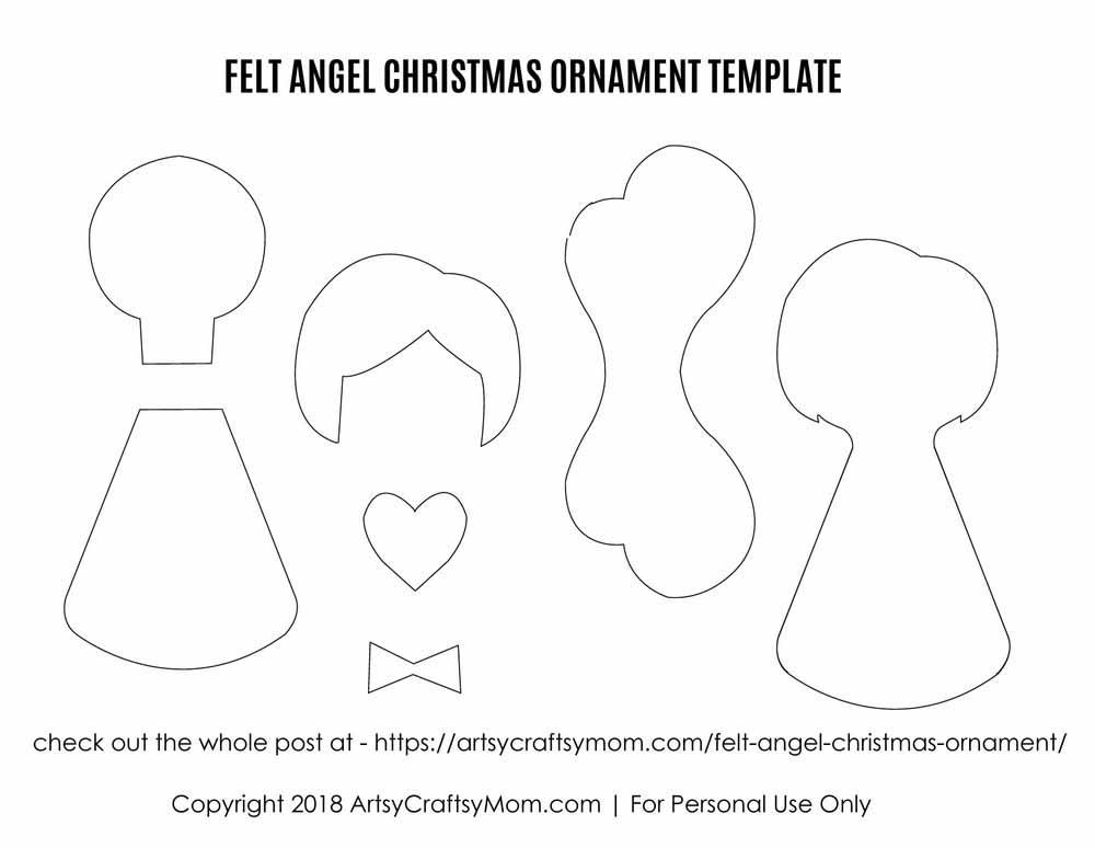 Felt Angel Christmas Ornament Craft