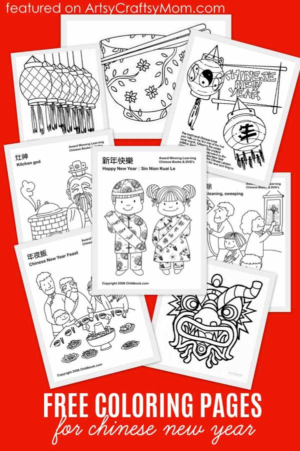 Free Coloring pages for Chinese New Year