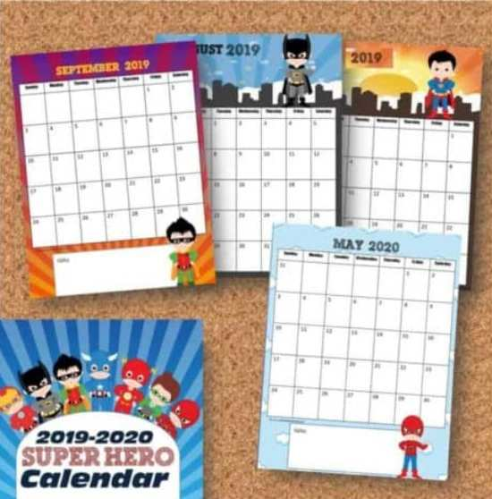 Make 2020 your family's most organized year yet with these cute 10 Free Printable Calendar Pages for Kids! Disney princess, superheroes, unicorns and more!