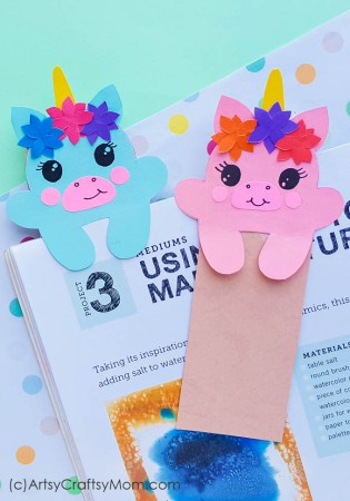 DIY Printable Unicorn Bookmarks + Free Template