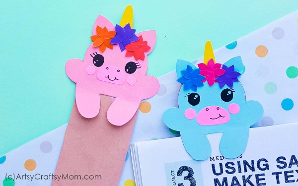 If you thought unicorns couldn't get more lovable, check out these printable baby unicorn bookmarks! Made from paper, these are just too cute for words!