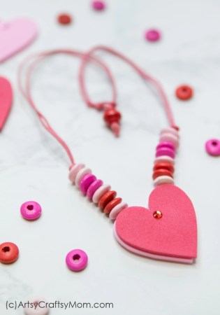DIY Reversible Valentine Heart Necklace