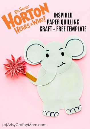 Horton Hears a who Quilled Paper Craft | Dr Seuss Craft