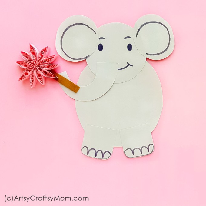 Bring alive the lovable elephant from Dr Seuss in this Horton Hears a Who Quilled Paper Craft! With a free template, this is perfect for Dr Seuss Day!