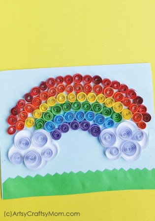 Quilled Rainbow Craft for St Patrick's Day